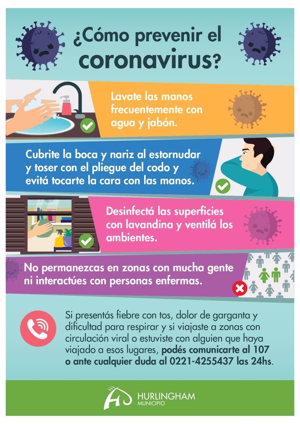 Covid 19 - Corona Virus - Prevención - Municipalidad de Hurlingham