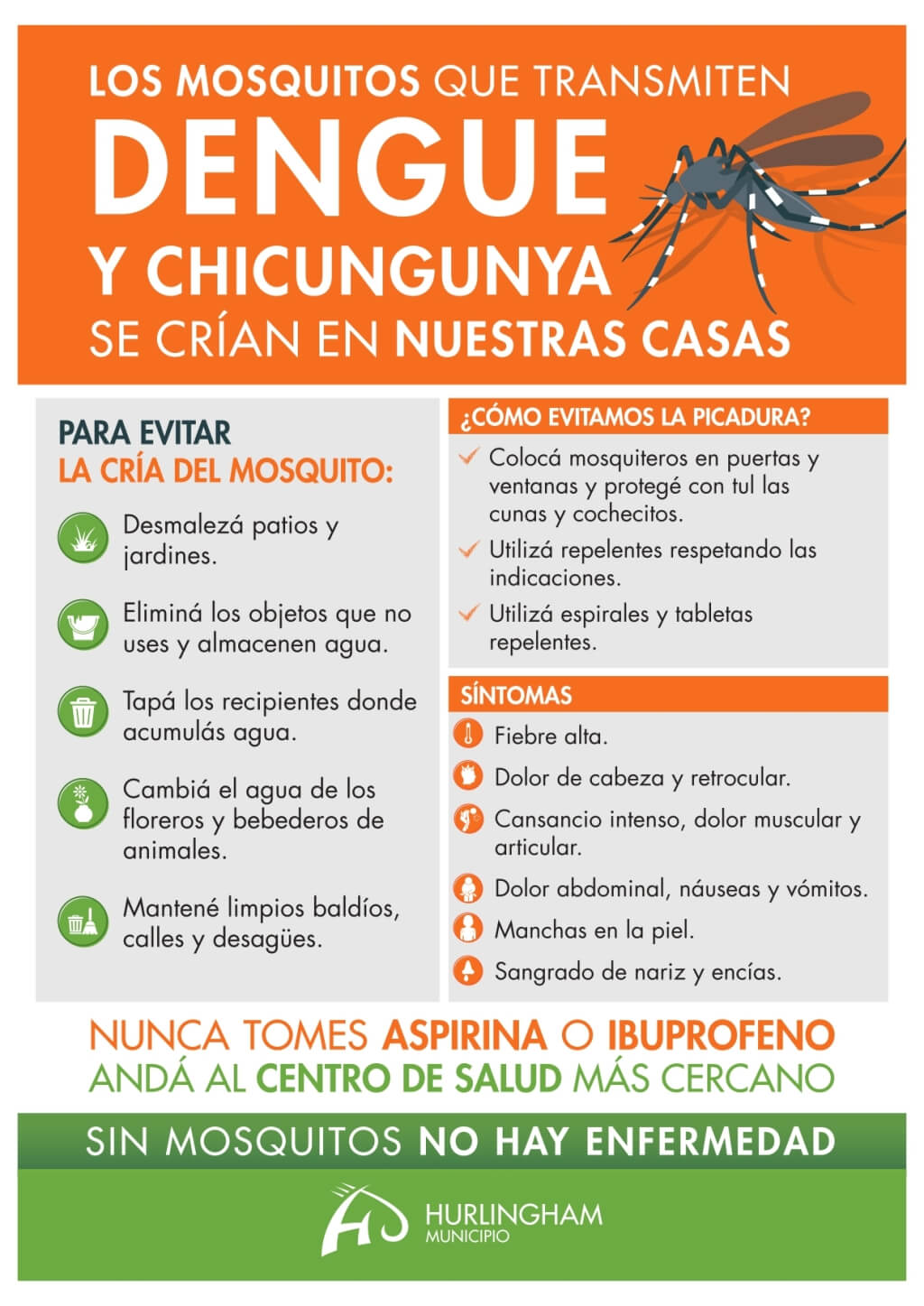 Dengue - Prevención - Municipalidad de Hurlingham