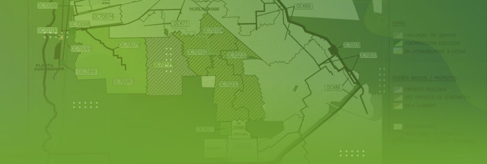 Mapa de obras de red cloacal en Hurlingham - Header