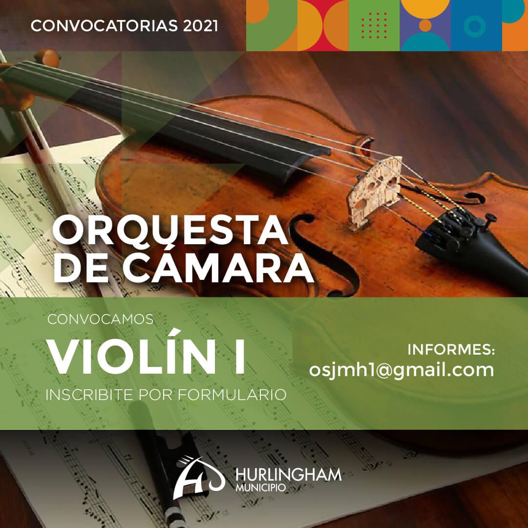 Orquesta de Cámara convoca Violin I